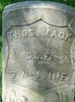 MACK, THOMAS - Hudson County, New Jersey   THOMAS MACK - New Jersey Gravestone Photos