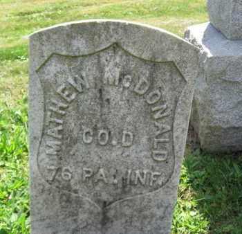 MCDONALD, MATTHEW - Hudson County, New Jersey   MATTHEW MCDONALD - New Jersey Gravestone Photos