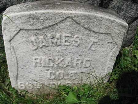RICHARD (RICKARD), JAMES T. - Hudson County, New Jersey | JAMES T. RICHARD (RICKARD) - New Jersey Gravestone Photos