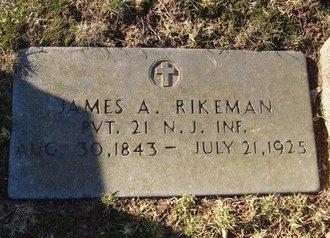 RIKEMAN, JAMES A. - Hudson County, New Jersey | JAMES A. RIKEMAN - New Jersey Gravestone Photos