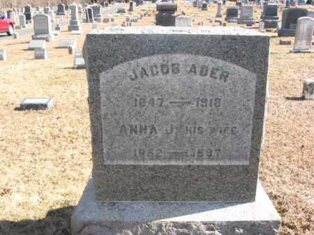 ADER, JACOB - Hunterdon County, New Jersey   JACOB ADER - New Jersey Gravestone Photos