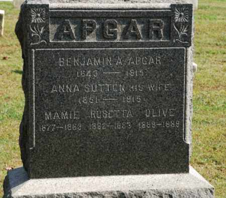 APGAR, BENJAMIN A. - Hunterdon County, New Jersey | BENJAMIN A. APGAR - New Jersey Gravestone Photos