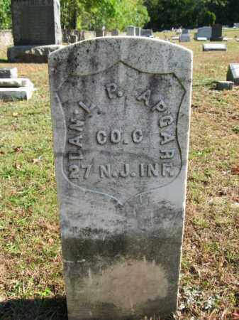 APGAR, DANIEL P. - Hunterdon County, New Jersey | DANIEL P. APGAR - New Jersey Gravestone Photos