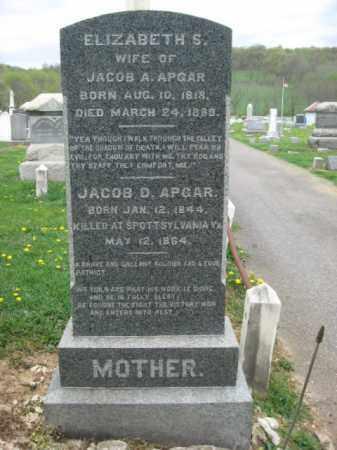APGAR, JACOB D. - Hunterdon County, New Jersey | JACOB D. APGAR - New Jersey Gravestone Photos