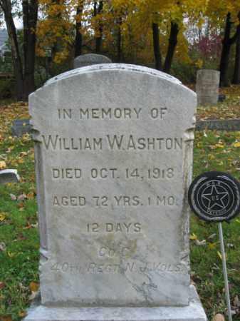 ASHTON, WILLIAM W. - Hunterdon County, New Jersey | WILLIAM W. ASHTON - New Jersey Gravestone Photos