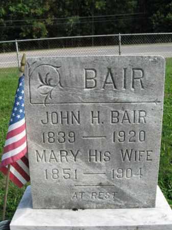 BAIR, JOHN - Hunterdon County, New Jersey | JOHN BAIR - New Jersey Gravestone Photos