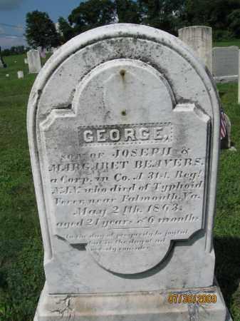 BEAVERS, CORP.GEORGE - Hunterdon County, New Jersey | CORP.GEORGE BEAVERS - New Jersey Gravestone Photos