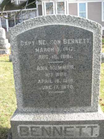 BENNETT, CAPT.NELSON - Hunterdon County, New Jersey | CAPT.NELSON BENNETT - New Jersey Gravestone Photos