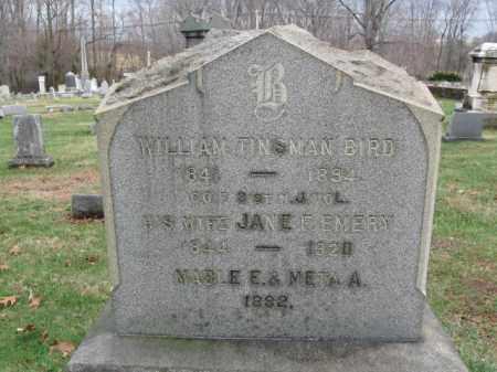 BIRD, WILLIAM TINSMAN - Hunterdon County, New Jersey | WILLIAM TINSMAN BIRD - New Jersey Gravestone Photos