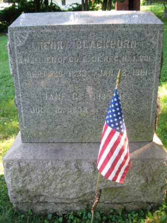 BLACKBURN, HENRY - Hunterdon County, New Jersey | HENRY BLACKBURN - New Jersey Gravestone Photos