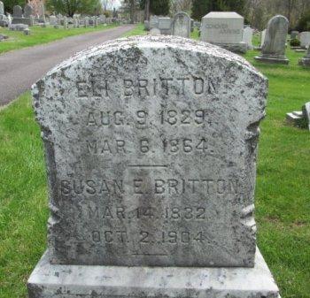 BRITTON, ELI (ELIAS) - Hunterdon County, New Jersey   ELI (ELIAS) BRITTON - New Jersey Gravestone Photos