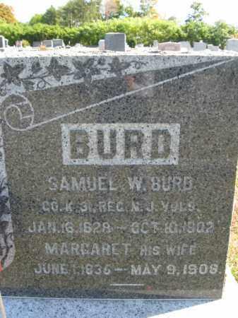BURD, SAMUEL W. - Hunterdon County, New Jersey   SAMUEL W. BURD - New Jersey Gravestone Photos