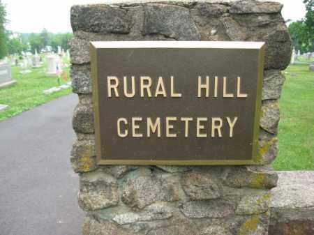 CEMETERY ENTRANCE SIGN, RURAL HILL - Hunterdon County, New Jersey | RURAL HILL CEMETERY ENTRANCE SIGN - New Jersey Gravestone Photos