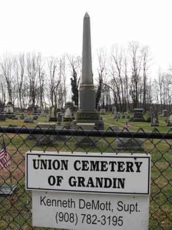 CEMETERY SIGN, UNION CEMETERY OF GRANDIN - Hunterdon County, New Jersey | UNION CEMETERY OF GRANDIN CEMETERY SIGN - New Jersey Gravestone Photos