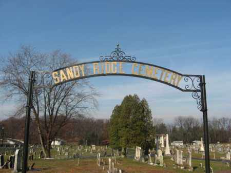 CEMTERY ENTRANCE SIGN, SANDY RIDGE BAPTIST - Hunterdon County, New Jersey | SANDY RIDGE BAPTIST CEMTERY ENTRANCE SIGN - New Jersey Gravestone Photos