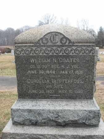 COATES, WILLIAM N. - Hunterdon County, New Jersey | WILLIAM N. COATES - New Jersey Gravestone Photos