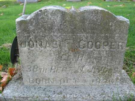 COOPER, JONAS  F. - Hunterdon County, New Jersey | JONAS  F. COOPER - New Jersey Gravestone Photos