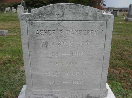 DANBERRY, ASHER S. - Hunterdon County, New Jersey   ASHER S. DANBERRY - New Jersey Gravestone Photos