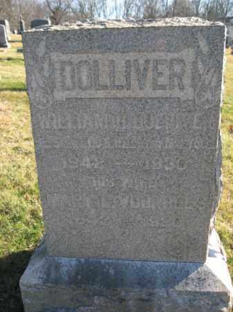 DOLLIVER, WILLIAM H. - Hunterdon County, New Jersey   WILLIAM H. DOLLIVER - New Jersey Gravestone Photos