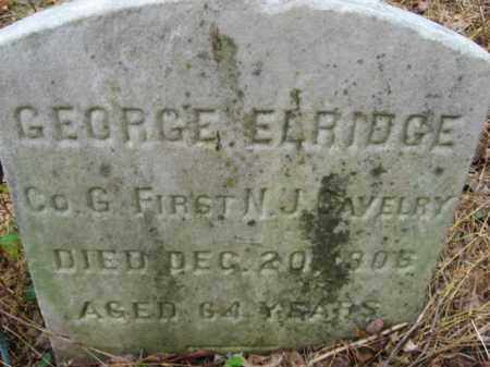 ELDRIDGE, GEORGE R. - Hunterdon County, New Jersey | GEORGE R. ELDRIDGE - New Jersey Gravestone Photos