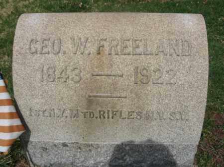 FREELAND, PVT.GEORGE W. - Hunterdon County, New Jersey | PVT.GEORGE W. FREELAND - New Jersey Gravestone Photos