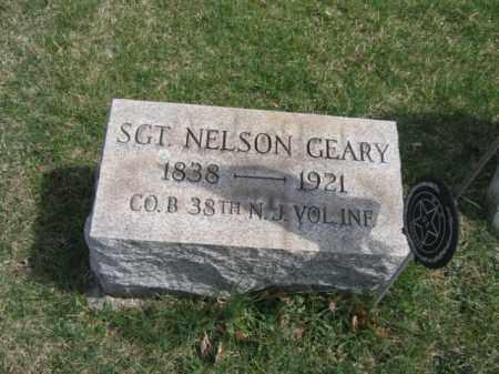 GEARY, SGT.NELSON - Hunterdon County, New Jersey   SGT.NELSON GEARY - New Jersey Gravestone Photos