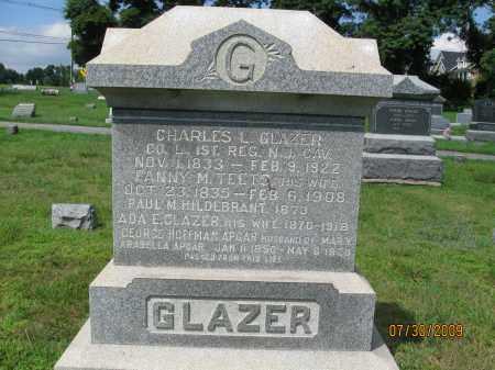 GLAZER, CHARLES L. - Hunterdon County, New Jersey   CHARLES L. GLAZER - New Jersey Gravestone Photos