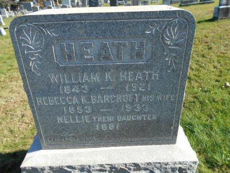 HEATH, WILLIAM K. - Hunterdon County, New Jersey   WILLIAM K. HEATH - New Jersey Gravestone Photos