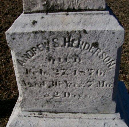 HENDERSON, ANDREW S. - Hunterdon County, New Jersey | ANDREW S. HENDERSON - New Jersey Gravestone Photos