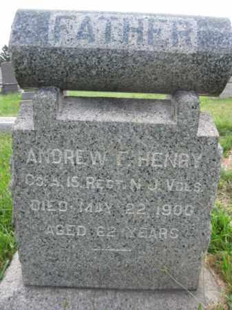 HENRY, ANDREW F. - Hunterdon County, New Jersey   ANDREW F. HENRY - New Jersey Gravestone Photos