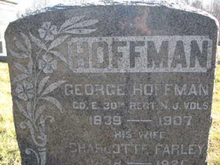 HOFFMAN, GEORGE - Hunterdon County, New Jersey | GEORGE HOFFMAN - New Jersey Gravestone Photos