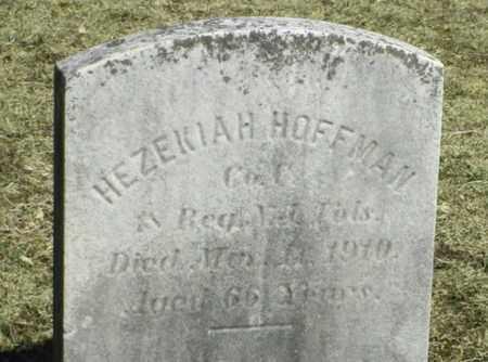 HOFFMAN, HEZIAKIAH - Hunterdon County, New Jersey | HEZIAKIAH HOFFMAN - New Jersey Gravestone Photos
