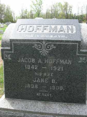 HOFFMAN, JACOB A. - Hunterdon County, New Jersey | JACOB A. HOFFMAN - New Jersey Gravestone Photos
