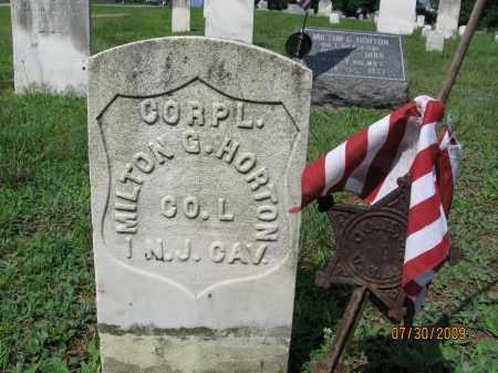 HORTON, CORP.MILTON G. - Hunterdon County, New Jersey   CORP.MILTON G. HORTON - New Jersey Gravestone Photos