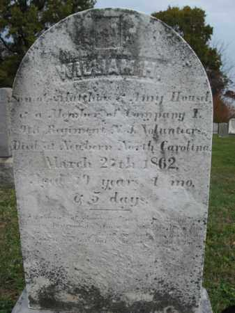 HOUSEL, WILLIAM H. - Hunterdon County, New Jersey | WILLIAM H. HOUSEL - New Jersey Gravestone Photos