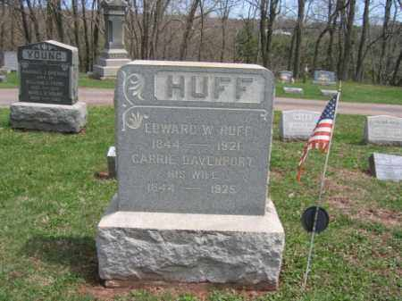 HUFF, EDWARD W. - Hunterdon County, New Jersey   EDWARD W. HUFF - New Jersey Gravestone Photos