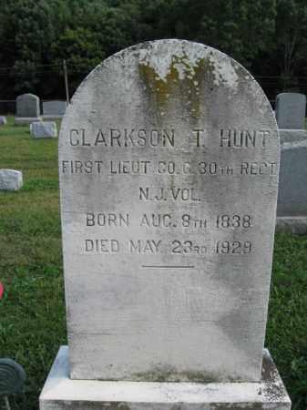 HUNT, CLARKSON T. - Hunterdon County, New Jersey | CLARKSON T. HUNT - New Jersey Gravestone Photos