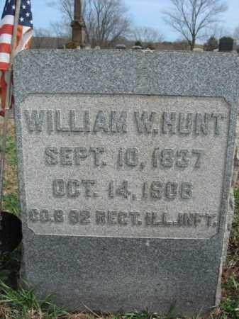 HUNT, WILLIAM W. - Hunterdon County, New Jersey   WILLIAM W. HUNT - New Jersey Gravestone Photos