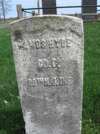 HYDE, AMOS - Hunterdon County, New Jersey   AMOS HYDE - New Jersey Gravestone Photos
