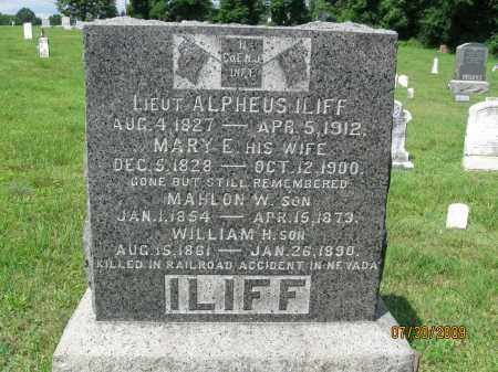 ILIFF, LIEUT.ALPHEUS - Hunterdon County, New Jersey | LIEUT.ALPHEUS ILIFF - New Jersey Gravestone Photos