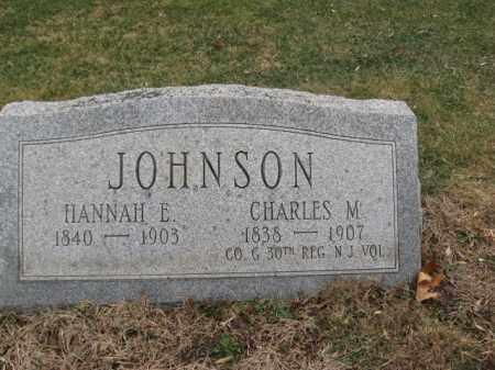 JOHNSON, CHARLES M. - Hunterdon County, New Jersey | CHARLES M. JOHNSON - New Jersey Gravestone Photos