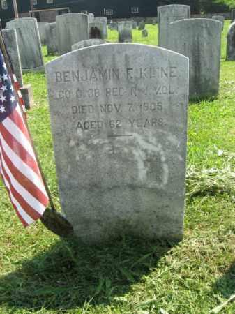 KLINE, BENJAMIN F. - Hunterdon County, New Jersey | BENJAMIN F. KLINE - New Jersey Gravestone Photos