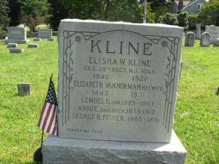 KLINE, ELISHA W. - Hunterdon County, New Jersey   ELISHA W. KLINE - New Jersey Gravestone Photos