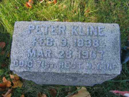 KLINE, PETER - Hunterdon County, New Jersey | PETER KLINE - New Jersey Gravestone Photos