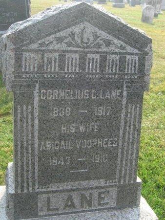 LANE, CORNELIUS C. - Hunterdon County, New Jersey | CORNELIUS C. LANE - New Jersey Gravestone Photos