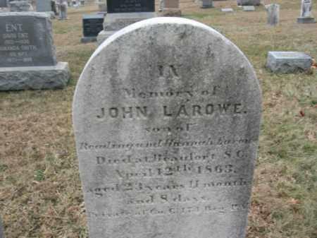 LAROWE, JOHN - Hunterdon County, New Jersey | JOHN LAROWE - New Jersey Gravestone Photos