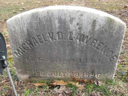 LAWRENCE, MICHAEL V.D. - Hunterdon County, New Jersey | MICHAEL V.D. LAWRENCE - New Jersey Gravestone Photos