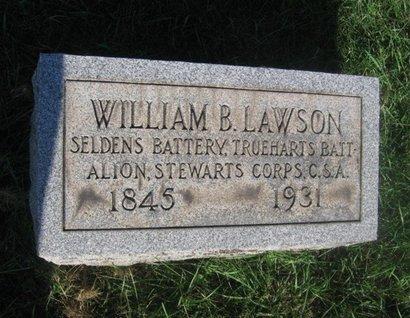 LAWSON (CSA), WILLIAM B. - Hunterdon County, New Jersey | WILLIAM B. LAWSON (CSA) - New Jersey Gravestone Photos