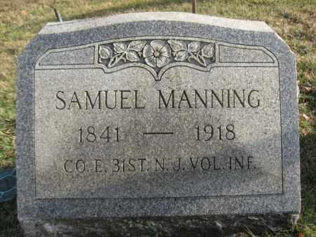 MANNING, SAMUEL - Hunterdon County, New Jersey | SAMUEL MANNING - New Jersey Gravestone Photos
