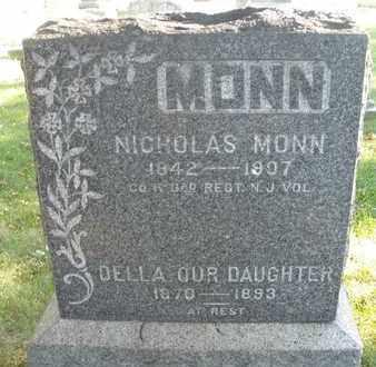 MONN AKA NIENNER, NICHOLAS - Hunterdon County, New Jersey   NICHOLAS MONN AKA NIENNER - New Jersey Gravestone Photos